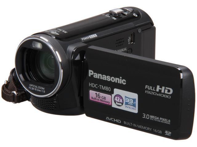Panasonic HDC-TM80K Black High Definition HDD/Flash Memory Camcorder