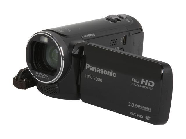 Panasonic HDC-SD80 Black High Definition HDD/Flash Memory Camcorder