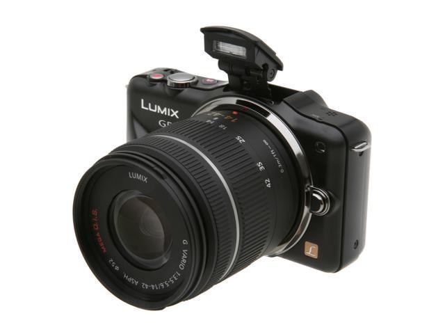 Panasonic LUMIX DMC-GF3KK Black 12.1 MP 3.0