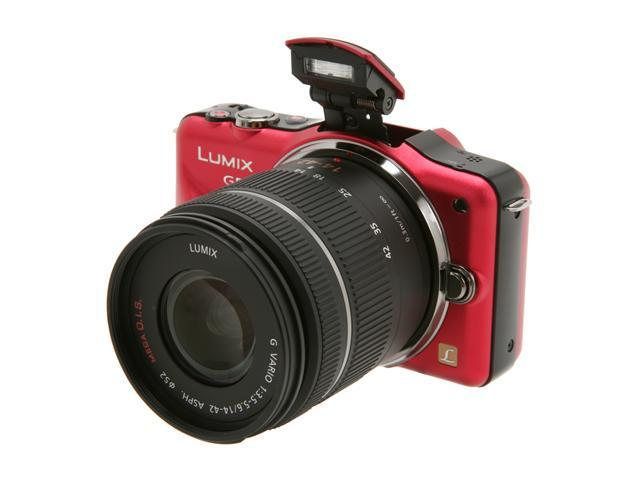 Panasonic LUMIX DMC-GF3KR Bright Red Digital Interchangeable Lens System Camera w/ 14-42mm Lens