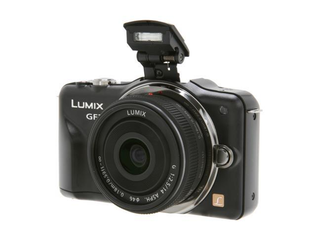 Panasonic LUMIX DMC-GF3CK Black 12.1 MP 3.0