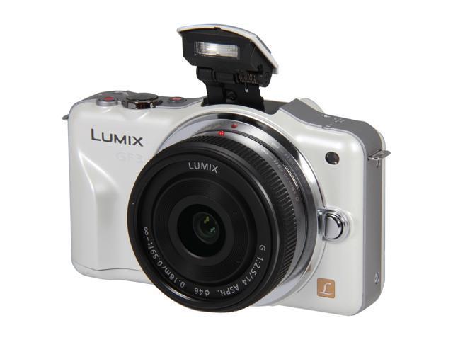 Panasonic LUMIX DMC-GF3CW White Digital Interchangeable Lens System Camera w/ 14mm Lens