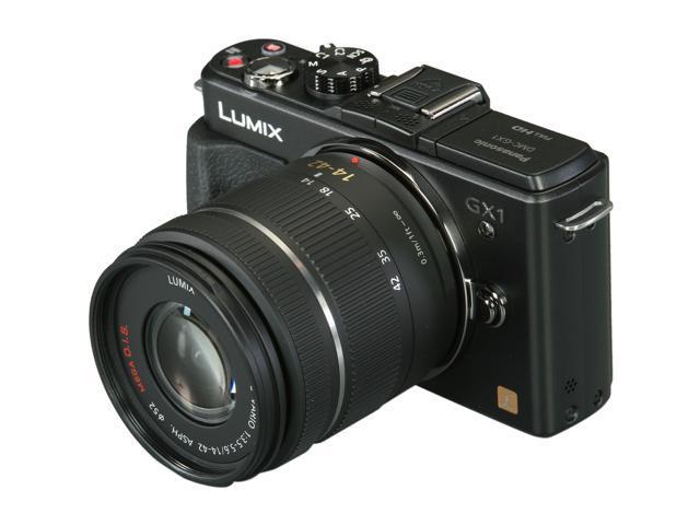 Panasonic DMC-GX1KK Black Digital Interchangeable Lens System Camera w/ 14-42mm Lens