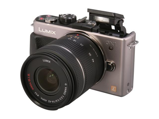 Panasonic DMC-GX1KS Silver Digital Interchangeable Lens System Camera w/ 14-22mm Lens