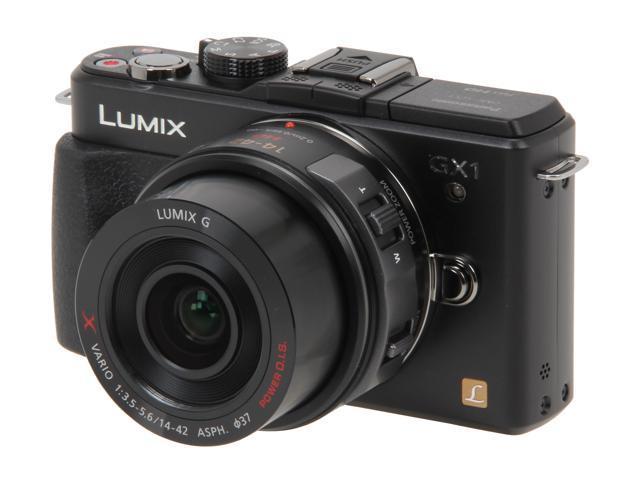 Panasonic DMC-GX1XK Black Digital Interchangeable Lens System Camera w/ 14-22mm Lens