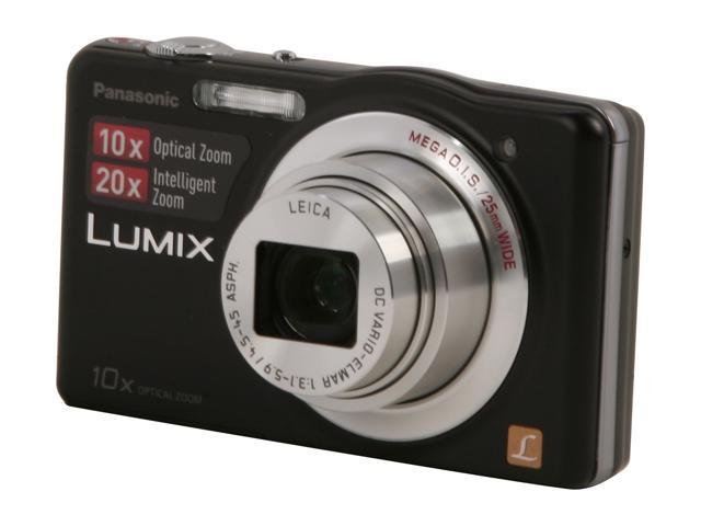 Panasonic DMC-SZ1 Black 16.1 MP 10X Optical Zoom 25mm Wide Angle Digital Camera