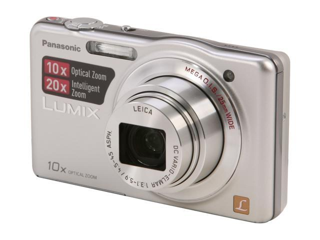 Panasonic DMC-SZ1 Silver 16.1 MP 10X Optical Zoom 25mm Wide Angle Digital Camera