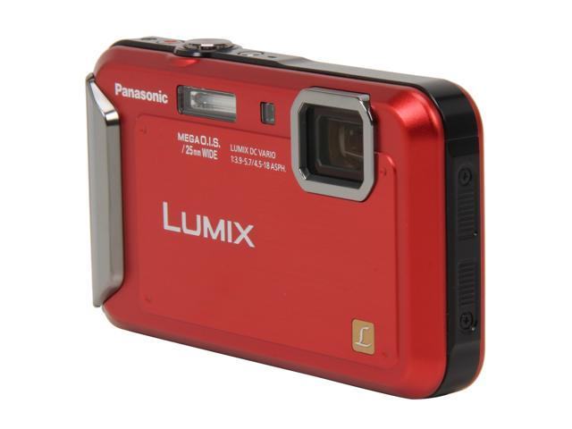 Panasonic DMC-TS20 Red 16.1 MP Waterproof Shockproof 25mm Wide Angle Digital Camera
