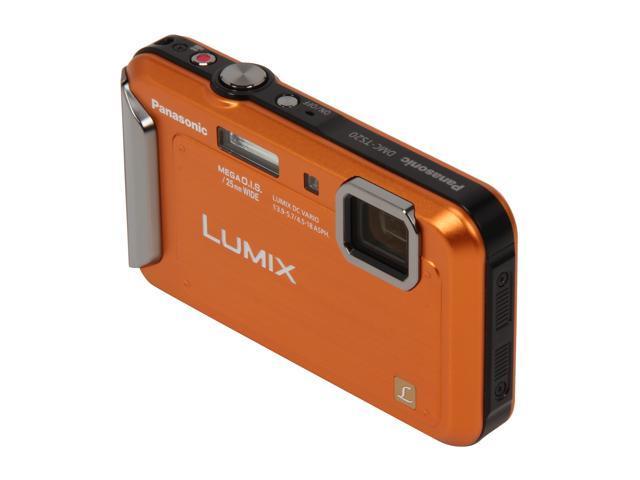 Panasonic DMC-TS20 Orange 16.1 MP 4X Optical Zoom Waterproof Shockproof 25mm Wide Angle Digital Camera