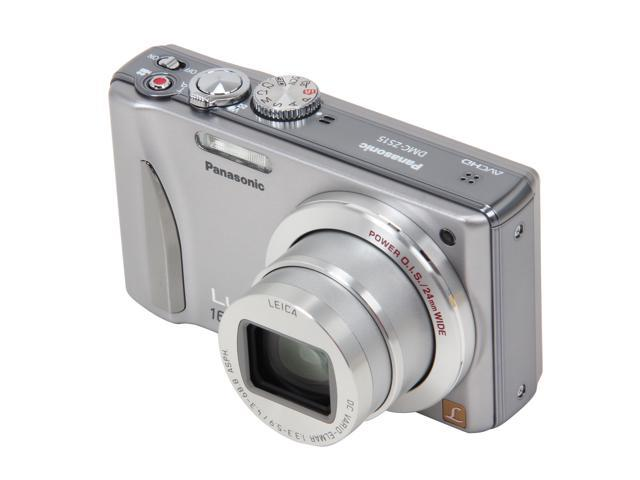 Panasonic DMC-ZS15 Silver 12.1 MP 16X Optical Zoom 24mm Wide Angle Digital Camera