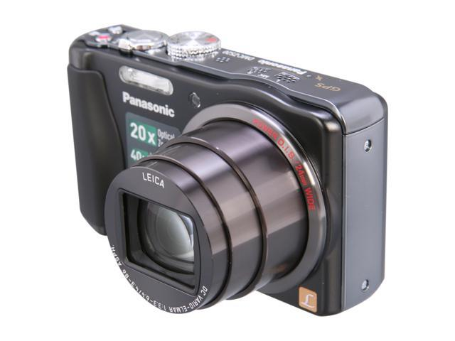 Panasonic DMC-ZS20 Black 14.1 MP 20X Optical Zoom 24mm Wide Angle Digital Camera