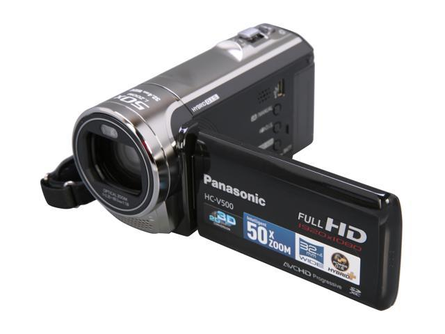 Panasonic HC-V500K Black Full HD Camcorder