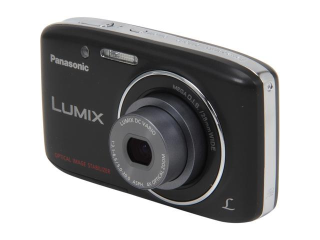 Panasonic LUMIX DMC-S2 Black 14.1 MP 4X Optical Zoom 28mm Wide Angle Digital Camera