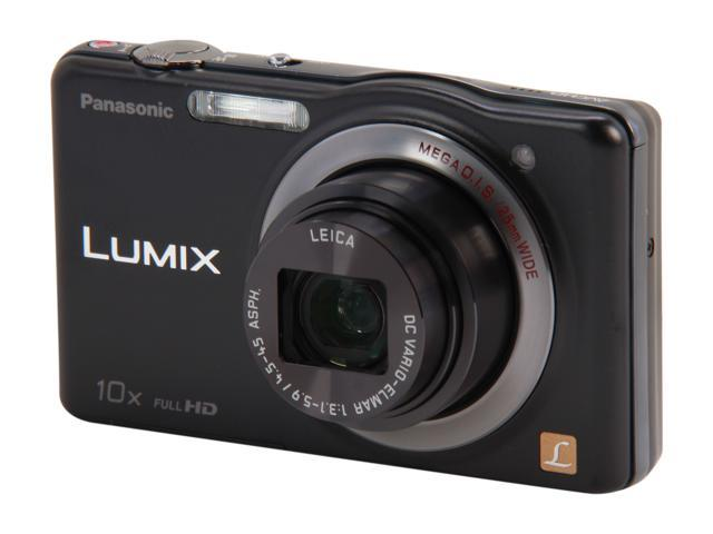 Panasonic DMC-SZ7K Black 14.1 MP 10X Optical Zoom Digital Camera HDTV Output
