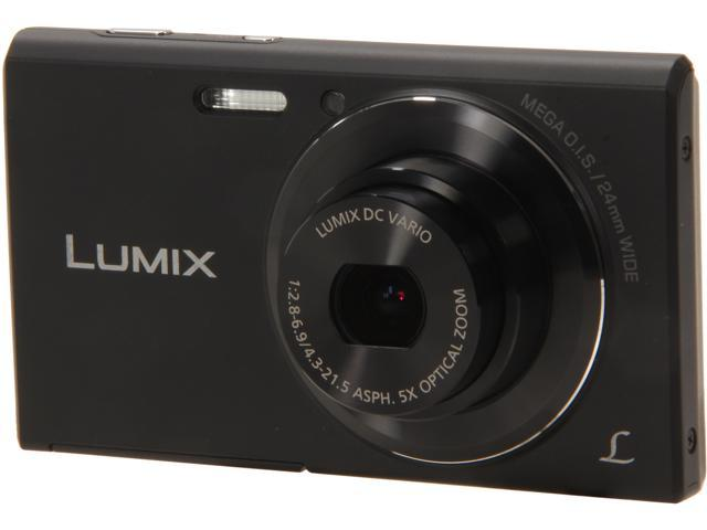Panasonic LUMIX DMC-FH10K Black 16.1 MP 5X Optical Zoom Digital Camera