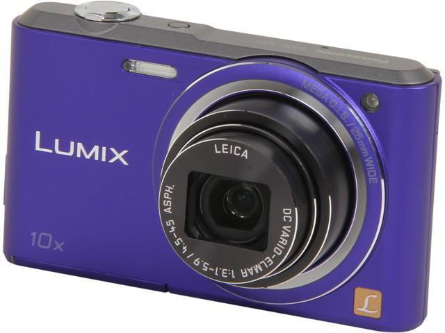 Panasonic LUMIX DMC-SZ3V Violet 16.1 MP 10X Optical Zoom Digital Camera