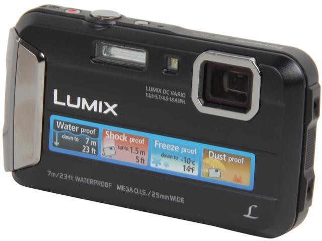 Panasonic LUMIX TS25 DMC-TS25K Black 16.1 MP 2.7