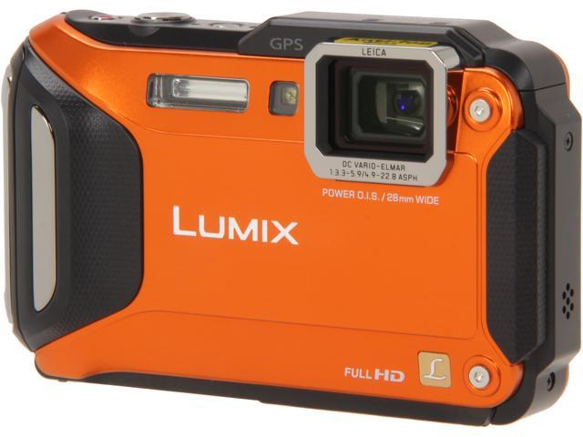 "Panasonic LUMIX DMC-TS5D Orange 16.1 MP 3.0"" 460K WiFi Enabled Lifestyle Tough Camera"
