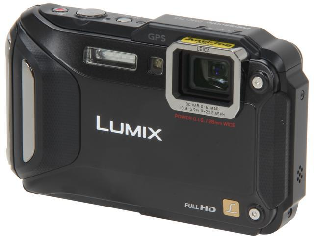 "Panasonic LUMIX DMC-TS5K Black 16.1 MP 3.0"" 460K WiFi Enabled Lifestyle Tough Camera"