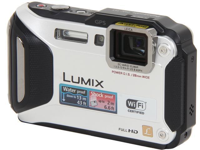 "Panasonic LUMIX DMC-TS5S Silver 16.1 MP 3.0"" 460K WiFi Enabled Lifestyle Tough Camera"
