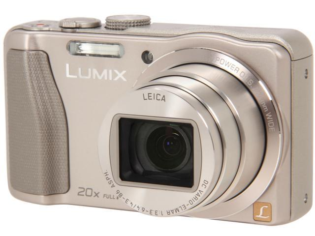 Panasonic LUMIX DMC-ZS25S Silver 16.1 MP 20X Optical Zoom Wide Angle Digital Camera HDTV Output