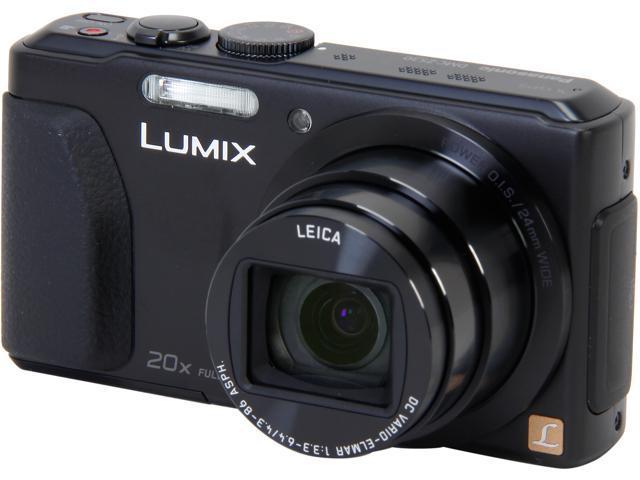 Panasonic LUMIX DMC-ZS30K Black 18 MP 20X Optical Zoom 24mm Wide Angle WiFi Enabled Compact Long Zoom Camera
