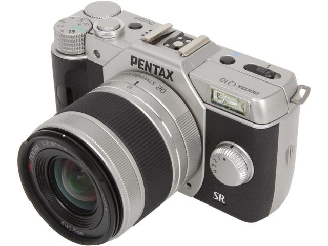 Pentax Q10 12.4 Megapixel Mirrorless Camera (Body with Lens Kit) - 5 mm - 15 mm - Silver