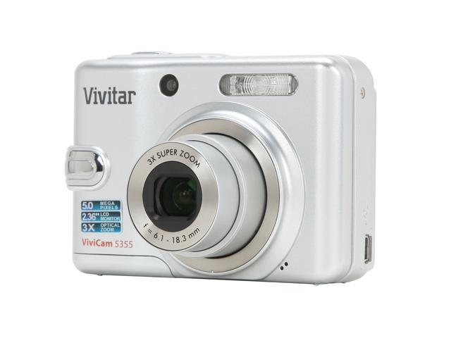 Vivitar ViviCam 5355 Silver 5.0 MP 3X Optical Zoom Digital Camera