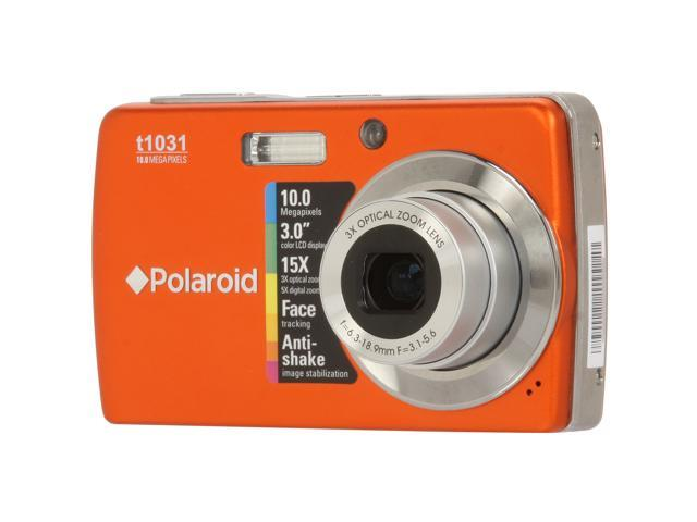 Polaroid t1031 Orange 10.0 MP 3X Optical Zoom Digital Camera