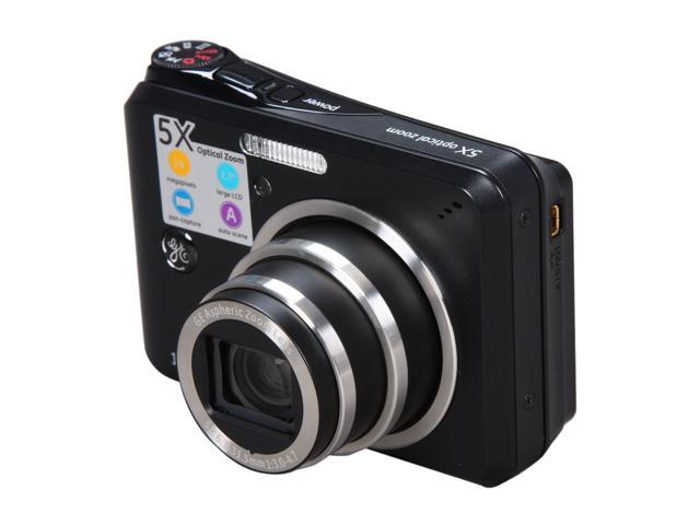 GE A1455 Black 14.1 MP 5X Optical Zoom Digital Camera
