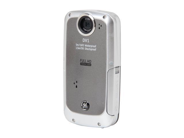 GE DV1 Waterproof/Shockproof 1080P Pocket Video Camera Graphite Gray