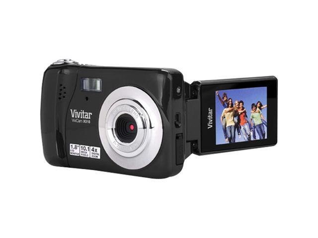 Vivitar ViviCam X018 10.1 Megapixel Compact Camera - Strawberry