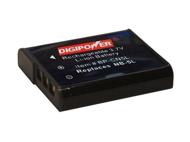 DigiPower BP-CN5L 900mAh Li-Ion Replacement Battery for Canon NB-5L