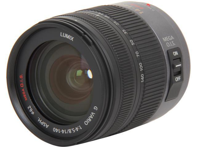 Panasonic H-VS014140 Compact ILC Lenses Lumix G VARIO HD 14-140mm / F4.0-5.8 ASPH. / MEGA O.I.S. Lens Black
