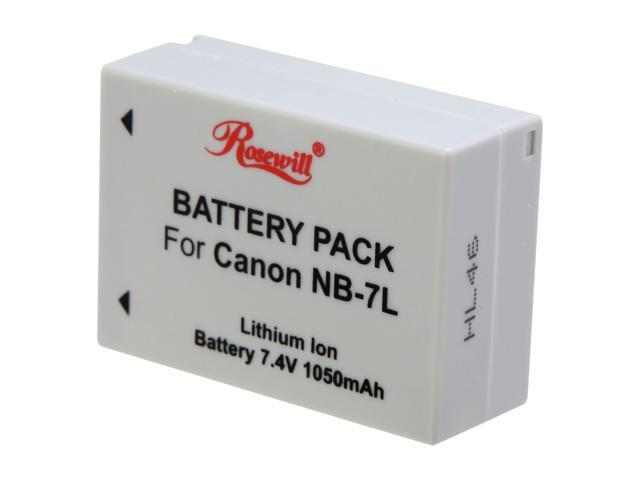 Rosewill RCBR-11004 1050mAh Li-Ion Premium Battery Pack - Replacement for Canon NB-7L