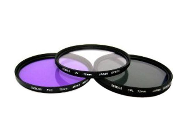 ZEIKOS ZE-FLK72 72mm Professional MULTI-COATED Glass Filter Kit