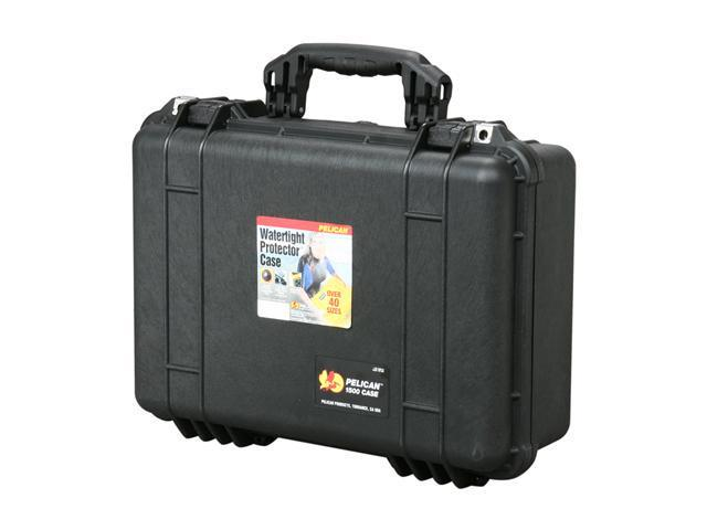 PELICAN 1500-004-110 Black Case with Padded Dividers