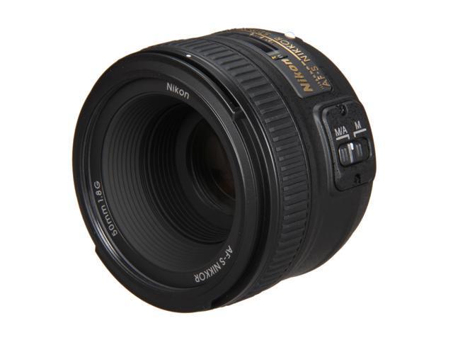 Nikon 2199 SLR Lenses AF-S NIKKOR 50mm f/1.8G Lens Black