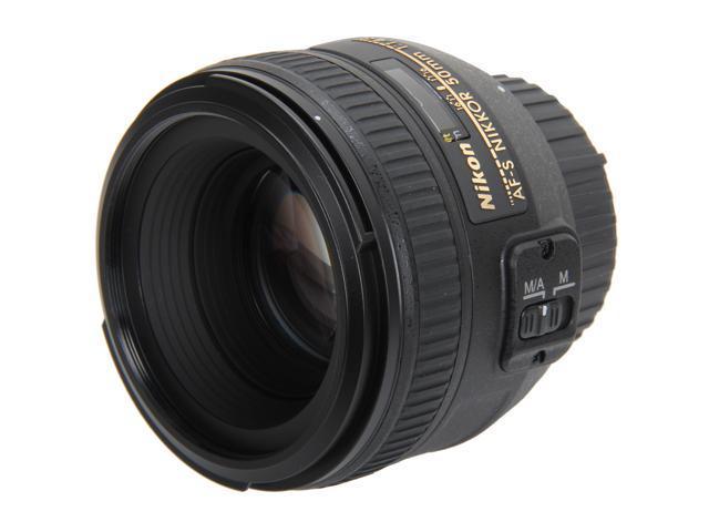 Nikon 2180 SLR Lenses AF-S NIKKOR 50mm f/1.4G Lens Black