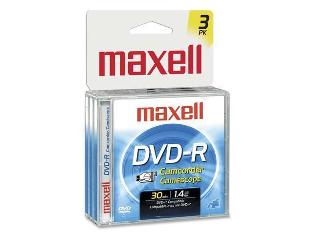 maxell 567622 Camcorder DVD-R Jewel Case 3PK