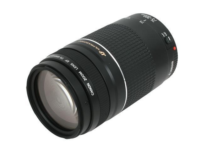 Canon EF 75-300mm f/4-5.6 III USM SLR Lenses Telephoto Zoom Lens Black