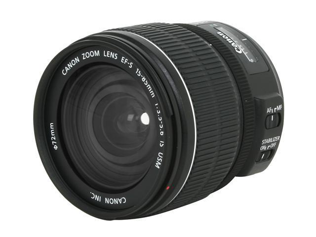 Canon 3560B002 3560B002 EF-S 15-85mm f/3.5-5.6 IS USM Standard Zoom Lens Black