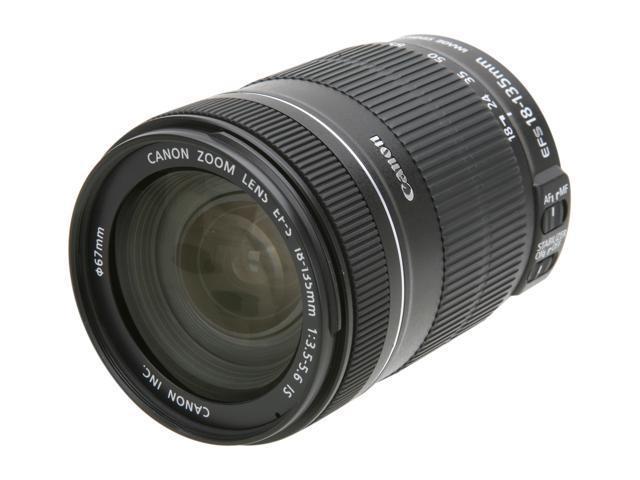 Canon EF-S 18-135mm f/3.5-5.6 IS Standard Zoom Lens Black
