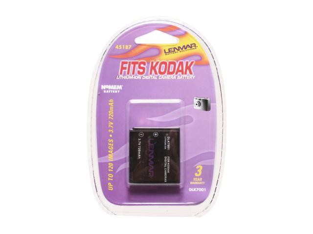 LENMAR DLK7001 3.7V 720mAh NoMEM Li-Ion DC Battery Replaces Kodak KLIC7001
