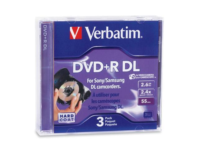 Verbatim 95313 Mini DVD+R DL 2.6GB 2.4X Branded 3pk Jewel Case