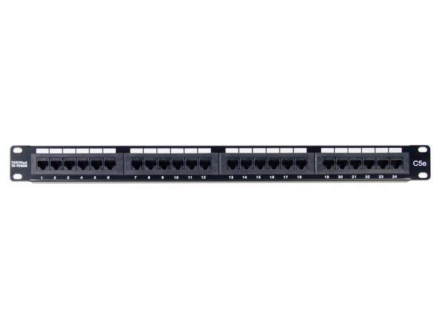TRENDnet TC-P24C5E 24-port Cat5/5e Unshielded Patch Panel