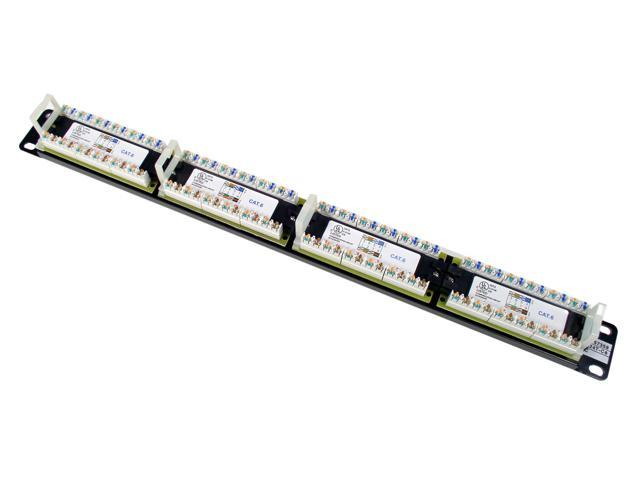 TRENDnet 24-Port Cat6 Unshielded Wallmount or Rackmount Patch Panel, TC-P24C6