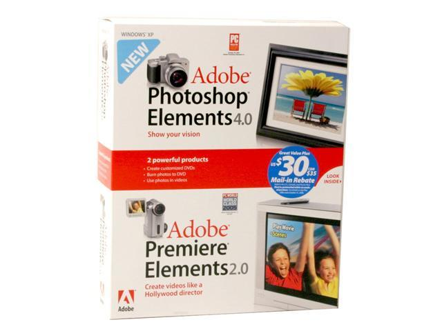Adobe Photoshop Elements 4.0 and Premiere Elements 2.0 Bundle