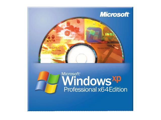 Microsoft Windows XP Professional X64 Edition with SP2B 1 Pack