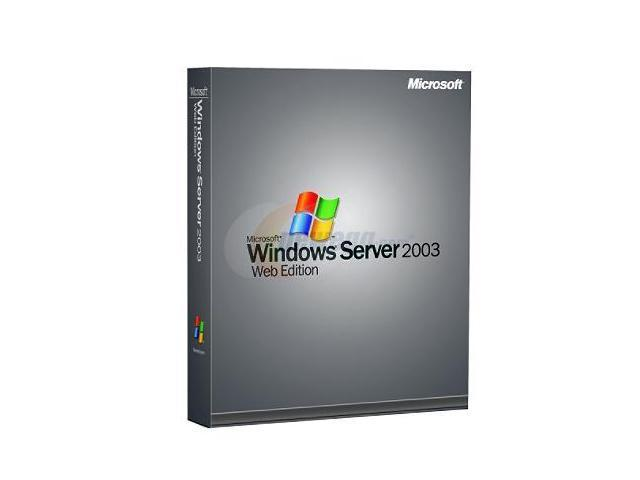 Microsoft Windows Server Web 2003 w/SP1a Win32 English 1pk DSP OEI CD 1-2CPU - OEM